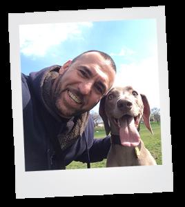 Bijan Head Dog Trainer and Balam Weimaraner